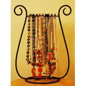 Set of 2 Necklace Bracelet Jewelry Holders Racks, Table Top