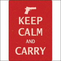 U-1599 12 inch x 17 inch RIVERS EDGE HOME DECOR NEW KEEP CALM AND CARRY ... - $15.95