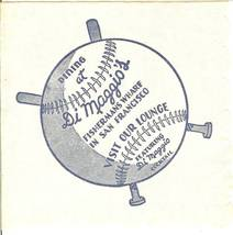 new york yankees joe dimaggio's grotto napkin fishermans wharf san franc... - $69.99