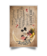 Mickey To My Girlfriend I Became Yours You Became Mine Satin Portrait Po... - $19.00+