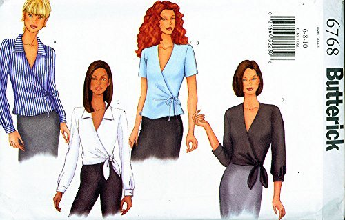 Butterick 6768 ©2000 Misses Side Tied Top; Sizes 6-8-10 - $5.82
