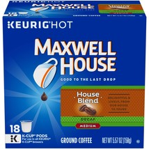 Maxwell House Decaf House Blend K-Cup Coffee Pods, 18 ct Box (Pack of 4) - $41.23