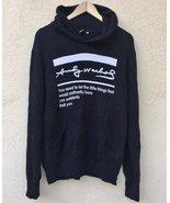 Vintage 90s Andy Warhol Big Logo SpellOut Pullover Hoodies Sweatshirt Bl... - $80.00