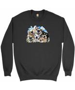 Smiling Dogs' Selfie Sweatshirt Funny Animal Dog Lover Cute Puppies Crew... - $19.11+