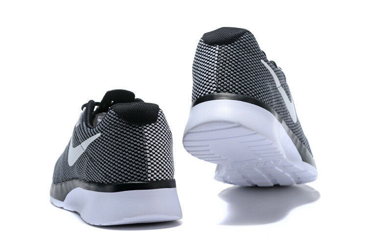 Nike Mens Tanjun Racer Running Sneaker Athletic Shoe 921669 002 Grey Black White
