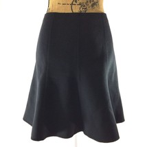 NEW Ann Taylor 10 Large Skirt Solid Black Fit Flare Flirty Stretch Short $79 NWT - $30.55