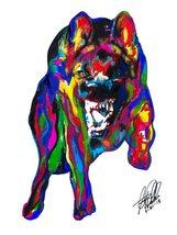 "German Shepherd, Police Dog, Pet, 18""x24"" Art Print 3 - $19.99"