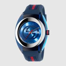 Gucci Sync XXL Blue Rubber Blue Dial Watch YA137104 - $289.00