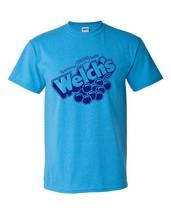 Welch's Grape Soda T-shirt distressed heather blue retro 1980's 50/50 tee image 2