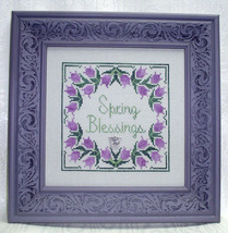 Spring Blessings with charm cross stitch chart Handblessings - $8.00