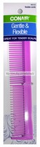 "CONAIR* 1pc 7"" FLEXIBLE COMB Soft+Gentle GREAT FOR TENDER SCALPS Purple ... - $3.59"