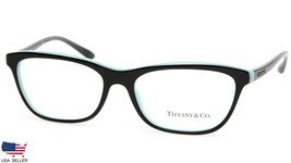 New Tiffany & Co. Tf 2078 8163 Black On Blue Eyeglasses Frame 55-16-140mm Italy - $123.73