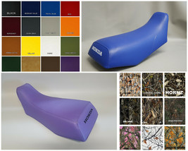 HONDA TRX70 Seat Cover in default solid BLACK, 25 COLORS,& 2-TONE Option... - $37.95
