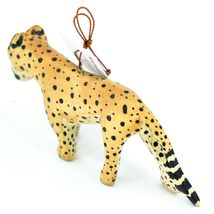 Hand Carved & Painted Jacaranda Wood Cheetah Safari Ornament Made in Kenya image 3