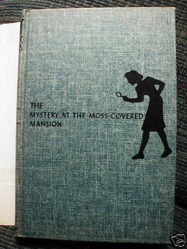 Nancy Drew 18 The Mystery at the Moss-Covered Mansion 1960B-48 hcdj
