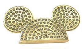 Disney Parks Shanghai Grand Opening Mickey Ears Magnet Gold With Rhinest... - $28.70