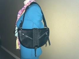 Full Grain Leather Black Hobo Bag by Christian Dior - $450.00
