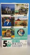 Sure Lox 5 Deluxe Puzzles Each 500 Pcs 2500 Total NIB - $23.22