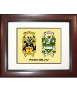 Framed Marriage Coats of Arms - $49.99
