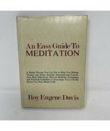 An Easy Guide to Meditation by Roy Eugene Davis 1977 Hardcover w/ Dust J... - $5.93