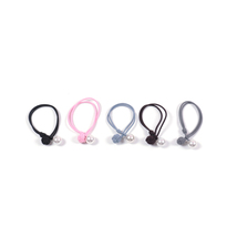 Set of 5 Artificial Pearl Hair Elastic Ponytail Holder - $12.99