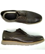 Cole Haan OriginalGrand Pebbled Leather Oxfords Size 9.5 Mens Wingtip Brown - $130.89