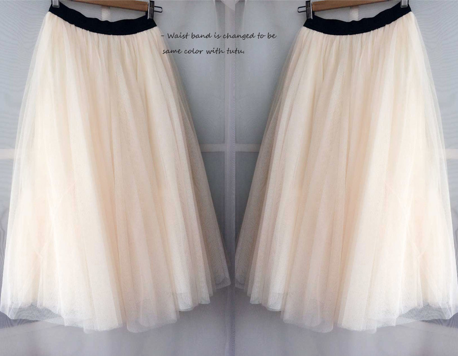 Cream Ivory Tulle Maxi Skirt High Waisted Plus Size Long Tulle Skirt NWT