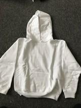 JERZEES NUBLEND~Hooded HOODIE Pullover Sweatshirt White Size M ~ NWOT Hoody - $11.95