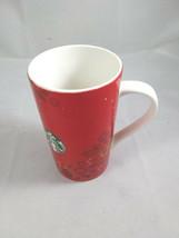Starbucks Holiday Christmas 2013 Tall Red Ceramic Mug Classic Mermaid 16 oz - $14.99