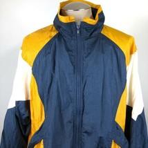 Vintage Colorblock Mens Tracksuit 2 Piece Jacket Pants Size XL Blue Yell... - $58.36