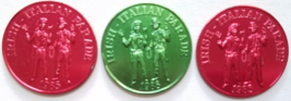 MARDI GRAS 1985 Irish Italian Parade New Orleans Aluminum Tokens Lot of 3 - $4.95