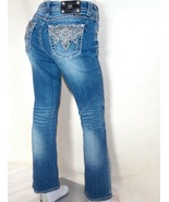 Miss Me Affliggere Stracciato Ricamato Tasche Facile Stivale Jeans 28 x 31 - $79.85
