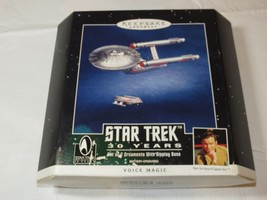 Hallmark Keepsake 2 Ornaments Star Trek 30 Years Voice Magic **left front of box - $53.45