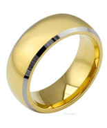 Tungsten Carbide Wedding Band Ring - Silver Gold Color - Price for one r... - $39.99
