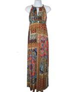 Muse for Boston Proper Maxi Dress Stones Beaded Stretch Knit Multi - $29.69