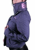 Bench UK Barbecue Blue Stow-away Hood Geometric Pattern Cotton Light Jacket NWT image 4