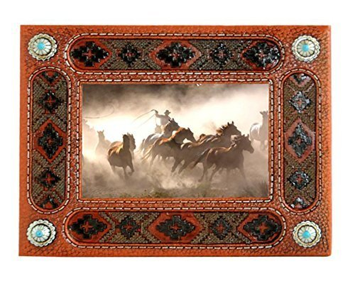 Western Style Decorative Picture Frame (Brown Aztec)