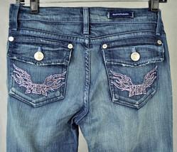 Rock & Republic Stevie Chroma Crystal Pink Blue Jeans 27 USA 1043 Womens - $44.36