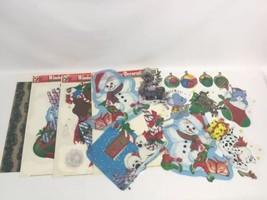 Assorted Christmas Decor Window Clings Xmas Windows Decorations Reindeer... - $12.73