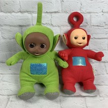 "Vtg Teletubbies 1998 Playskool 15"" PO & 1996 Golden Bear 14"" Dipsy Talking Plush - $24.85"