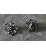 Vintage Marcasite Jewelry Flower Earrings - $15.99