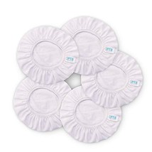 """SPTA White Car Polisher Pad Bonnet Terry Cloth Pads Waxer/polishing Cover for 9"""""""
