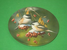 The Chickadee Collector Plate Signed 1986 Knowles Kevin Daniel Plate No ... - $12.82