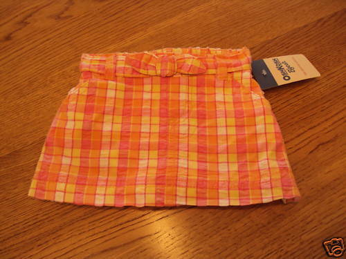 Primary image for Osh Kosh B'gosh girls skort baby NEW 9 M 9 months NWT 20.00 ^^