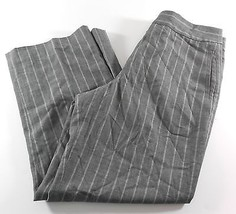 Anne Klein Womens Capri Dress Pants Stretch 18% Wool Gray Pinstripe Size... - $11.88