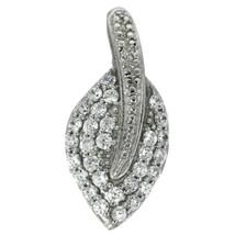 Leaf Design Cluster Pendant Cubic Zirconia Gemstone 925 Sterling Silver - $14.95