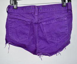 J Brand 7037 Bright Purple Cut Off Short Jeans 26 Womens USA image 9