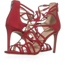 Vince Camuto Lorrana Peep Toe Heeled Sandals 580, Red Rose, 9 US / 39 EU - $29.75