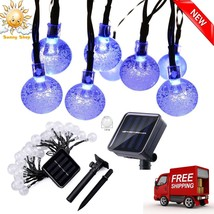 20ft 30 Solar LED Outdoor Waterproof String Lights Garden Patio Party Decor - €9,66 EUR