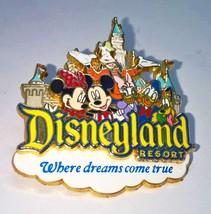 "Disneyland Resort Where Dreams Come True Enamel Pin 1 3/4 x 2"" - $6.76"